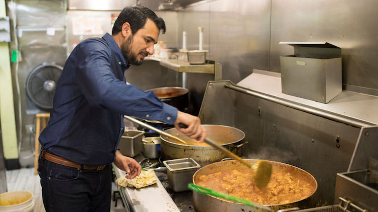 Pakistani immigrant Kazi Mannan's restaurant Sakina Halal Grill in Washington feeds over 16000 homeless peoples for free every year