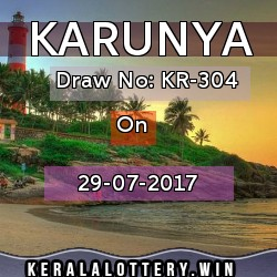 Karunya LOTTERY NO. KR-304th DRAW held on 29/07/2017