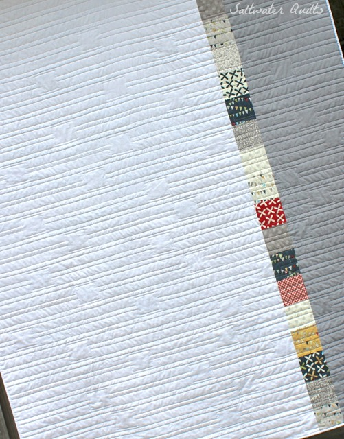 Complete Reunion Quilt Back | © Saltwater Quilts 2012