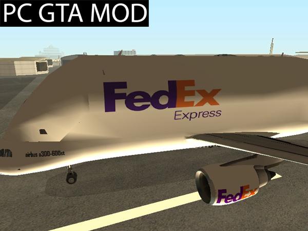 Free Download Airbus A300st Beluga FedEx  Mod for GTA San Andreas.