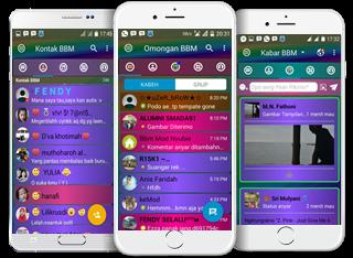 Download BBM Mod Full Color Disco Mix Terbaru v3.3.1.24 Update