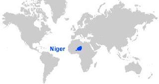 Gambar Peta letak Niger