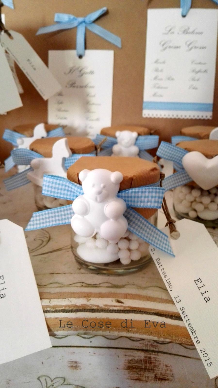 Amato Le Cose di Eva: Le bomboniere e il tableau per un battesimo coccoloso HV63