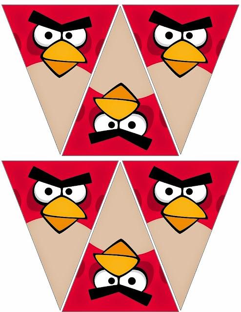 Free Printable Angry Birds Bunting.