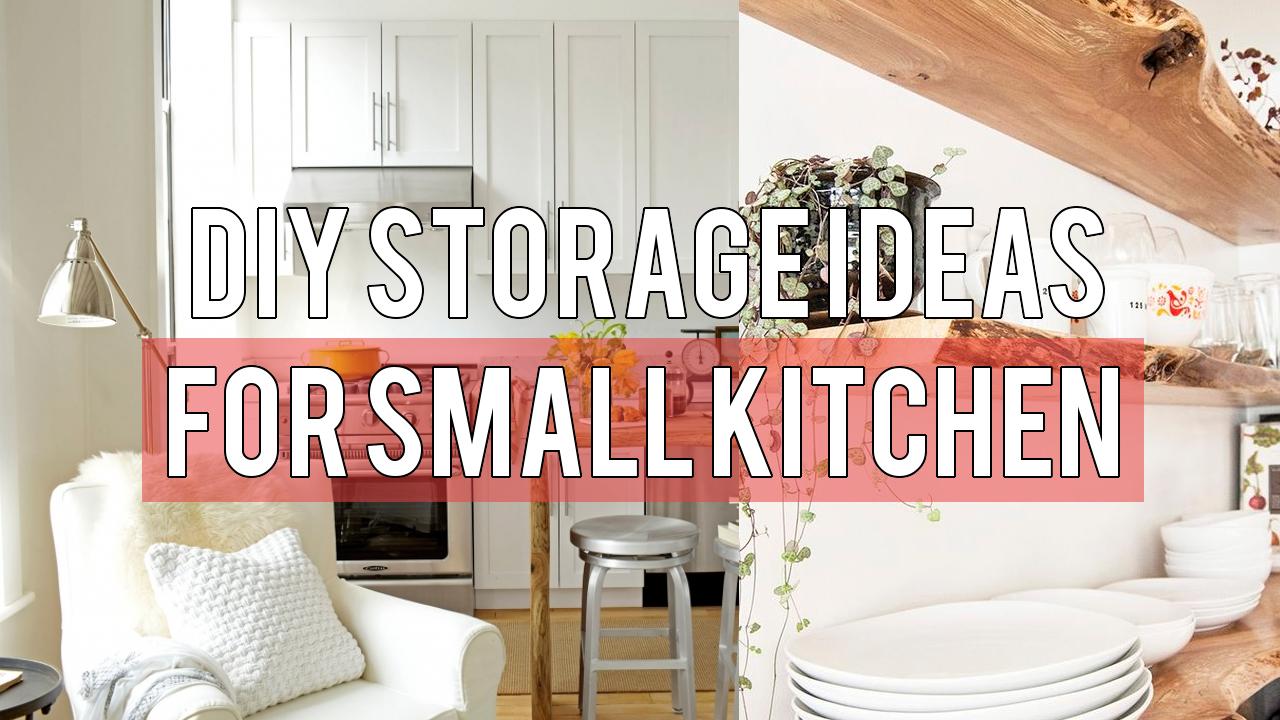 DIY Storage Ideas for Small Kitchen