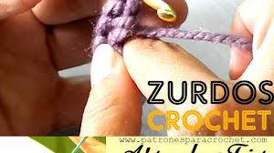 Crochet para zurdos / Tutoriales de Puntos Básicos