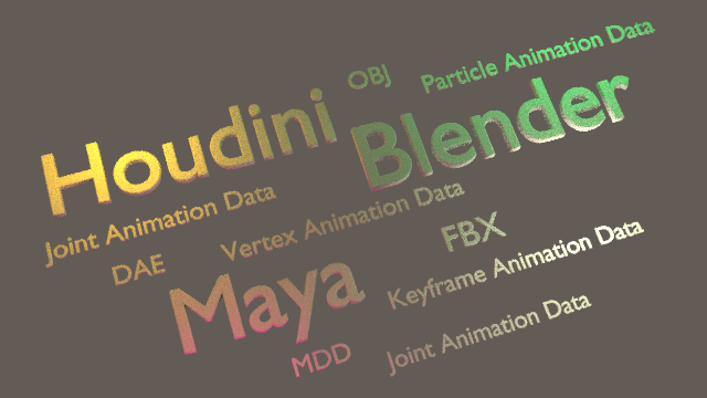 PIPELINE / Interoperability between Blender Maya Houdini