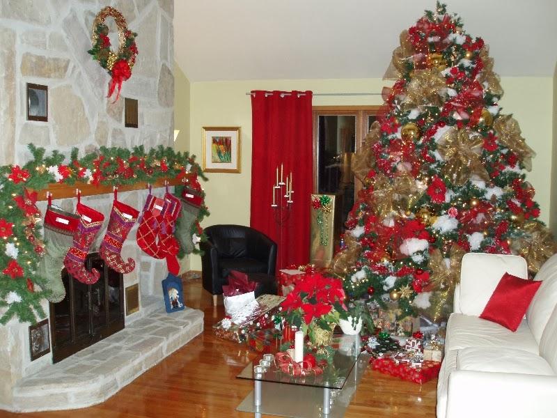 C mo decorar la sala para navidad colores en casa for Imagenes de oficinas decoradas