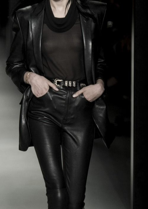 Leather Bound | Saint Laurent SS14 | Allegory of Vanity