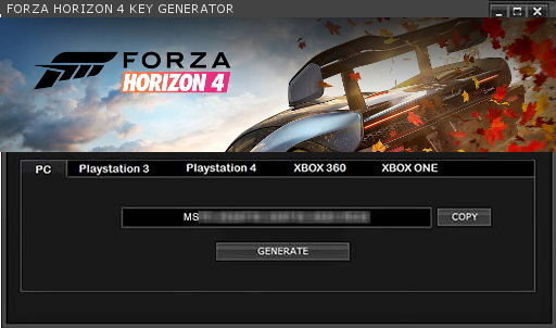 Keygenthebestgames: FORZA HORIZON 4 KEY GENERATOR KEYGEN FOR