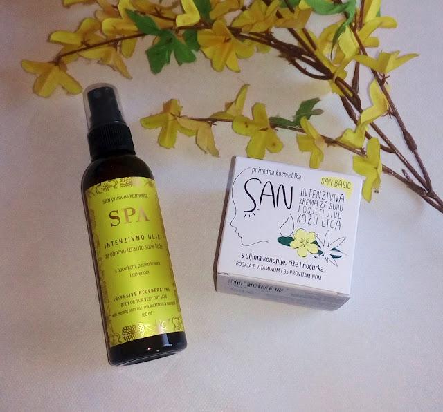 san prirodna kozmetika, ulje za intenzivno suhu i osjetljivu kožu, suha koža, ulje za suhu kožu