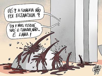 Resultado de imagem para sangria do brasil charge charge