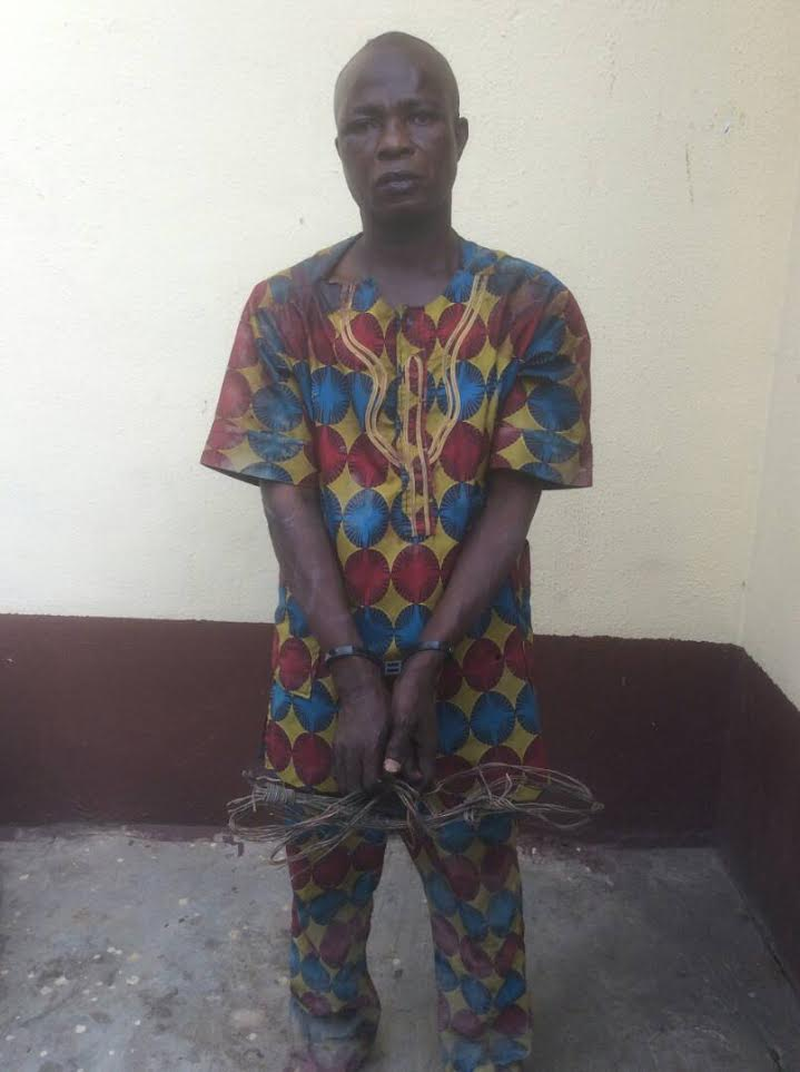 Grand father of three arrested for stealing transformer cables in Lagos