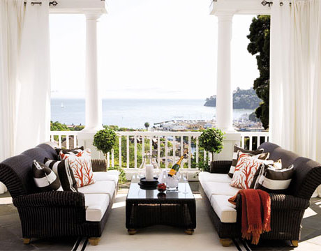decorating a porch like a living room