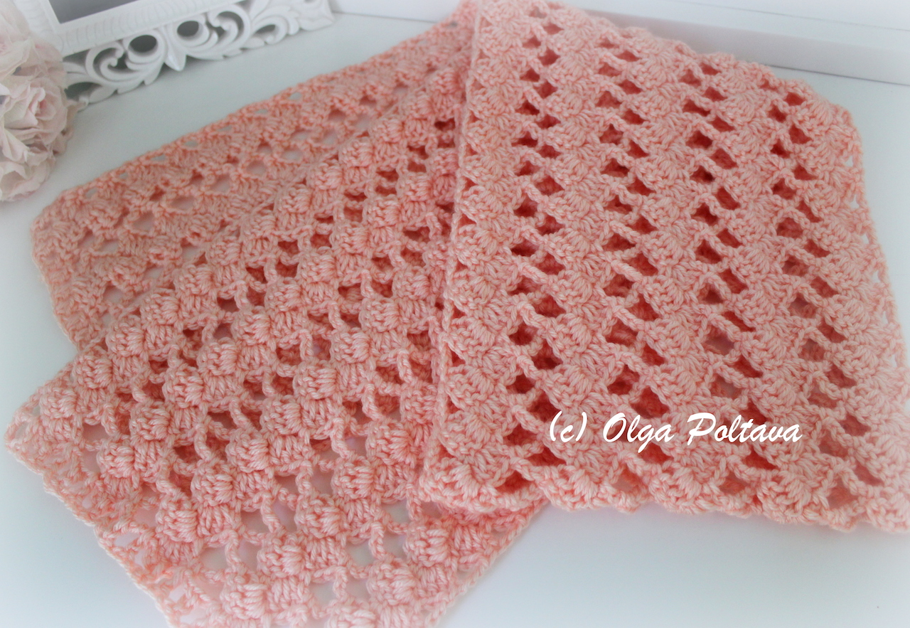 Lacy Crochet: Caron Simply Soft Lace Scarf Free Crochet Pattern
