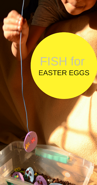 Fish for Easter Eggs, Keep kids Busy with Practical Mom