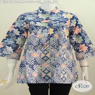 blus batik kombinasi modern