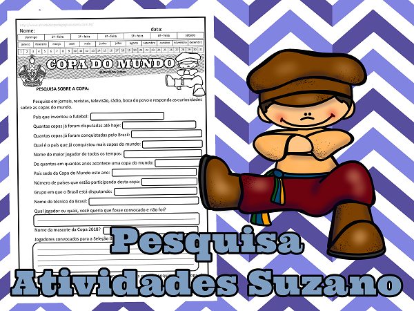 Para casa pesquisa copa do mundo- língua portuguesa-escrita-leitura