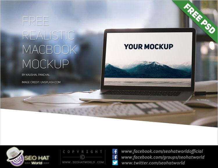 Download Macbook with Speakers Mockup