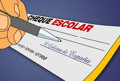 "Dibujo de una mano firmando un ""cheuqe"" escolar"
