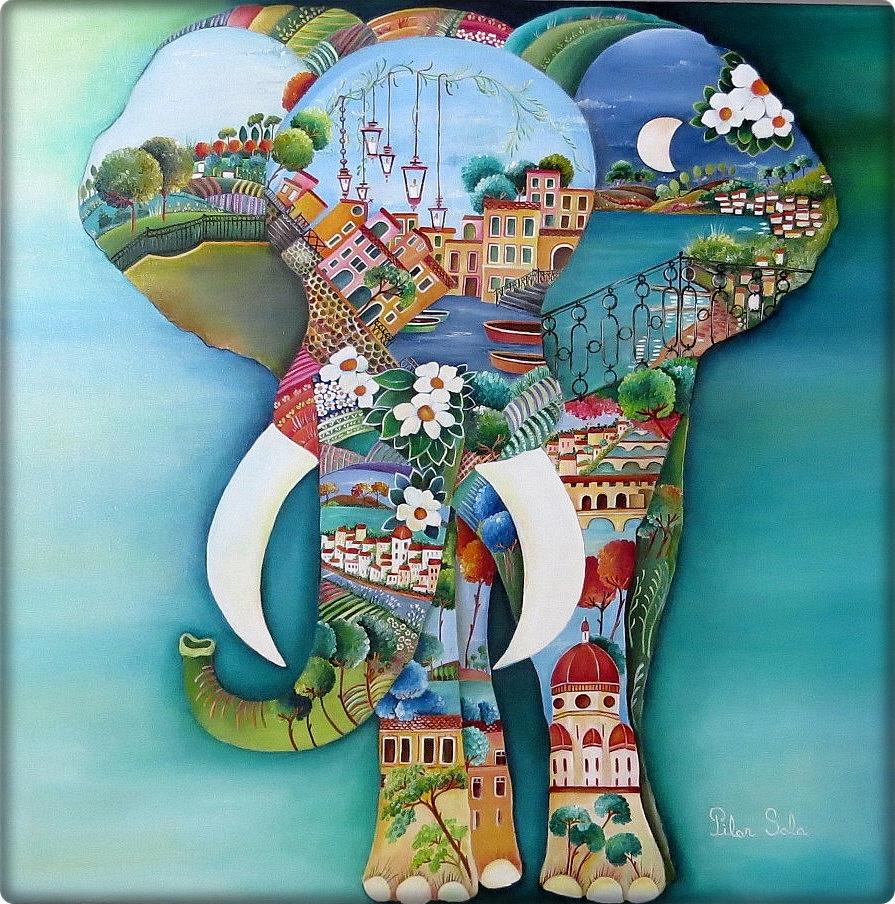 Pinzellades al món: Il·lustracions de Pilar Sala: art naïf ...