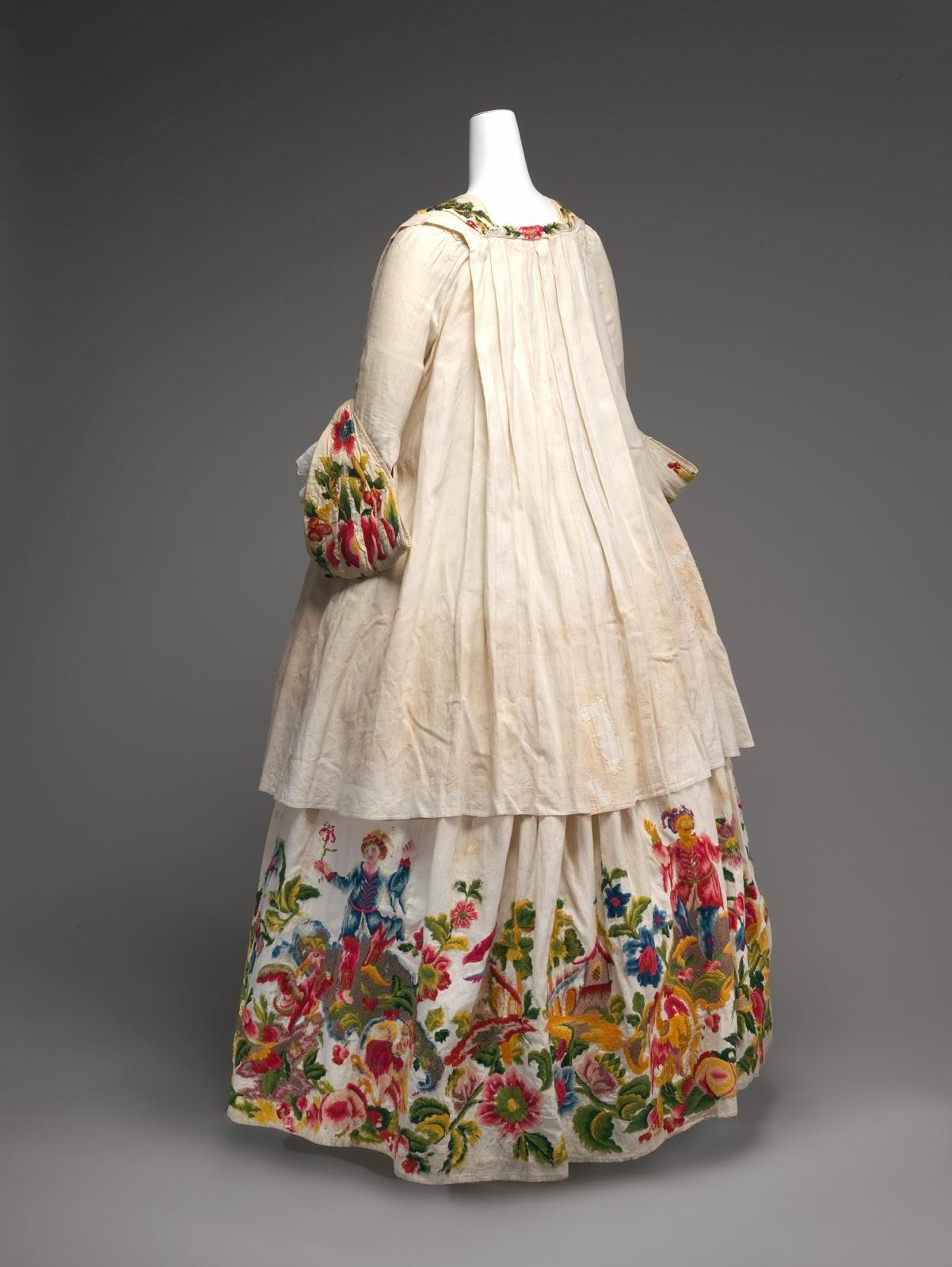 Silkdamask Hoho Birds And Dancing Jesters Italian Dress