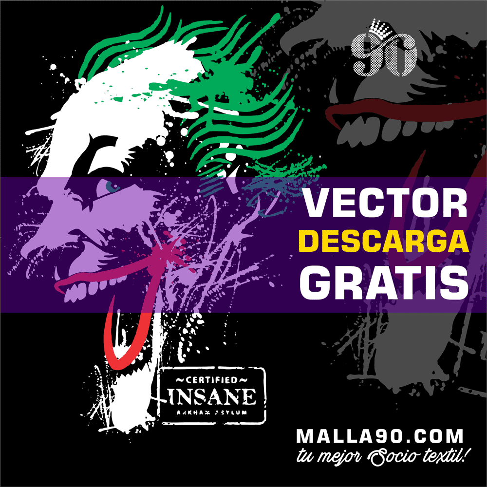 descarga vector del joker insane