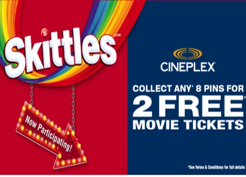 Cineplex Odeon 2 Free Movie Tickets Offer