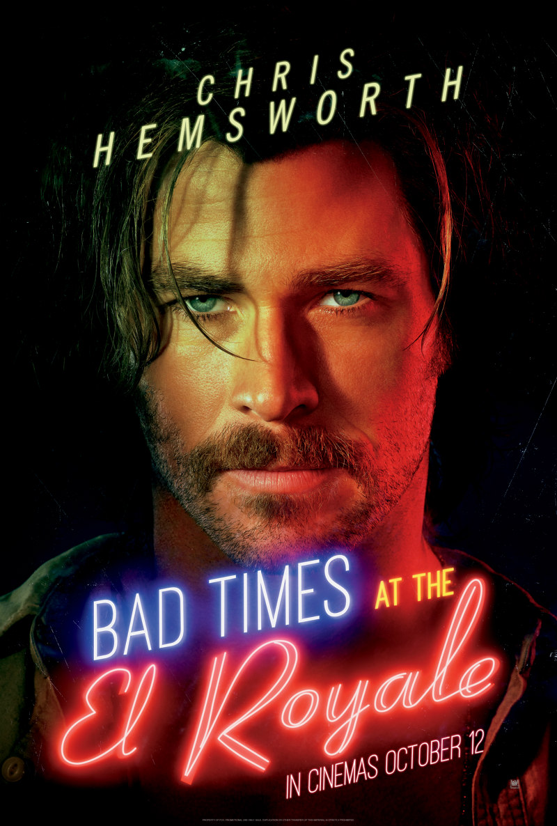BAD TIMES AT THE EL ROYALE poster chris hemsworth