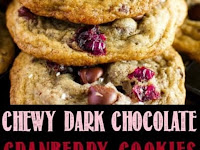 CHEWY DARK CHOCOLATE CRANBERRY COOKIES