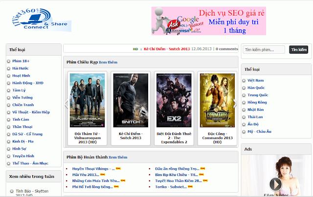 Template xem phim Online cực đẹp cho Blogspot, phim trực tuyến, Movies