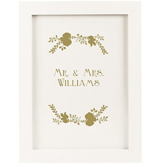 Gold Personalized Wedding Guest Book