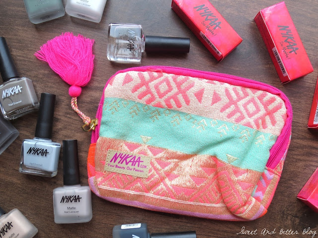Free Nykaa Pink Tassel Makeup Pouch