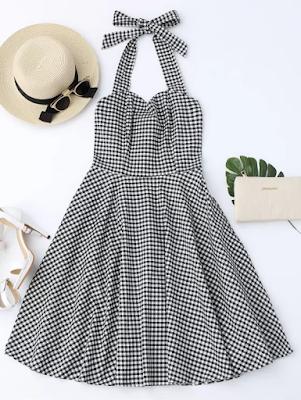 Vestido Retrô Estampa Vichy