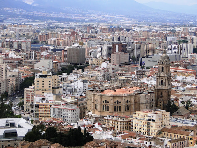 View of the Cathedral from Gibralfaro Castle