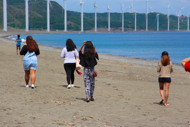 Tourists in Bangui Wind Farm, Ilocos Norte