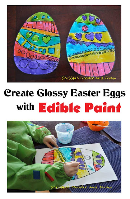 Create Glossy Easter Eggs and paint with syrup