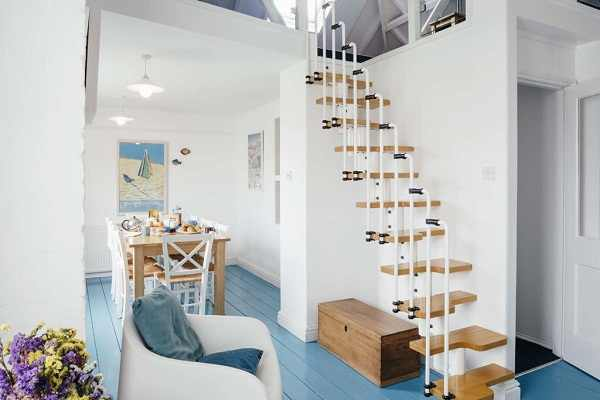 Cách bố trí cầu thang trong nhà hẹp