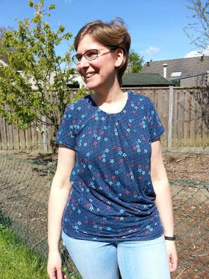 shirt voor mezelf, Ottobre, megan blue stof