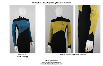 Star Trek TNG Women's Jumpsuit Sewing Pattern