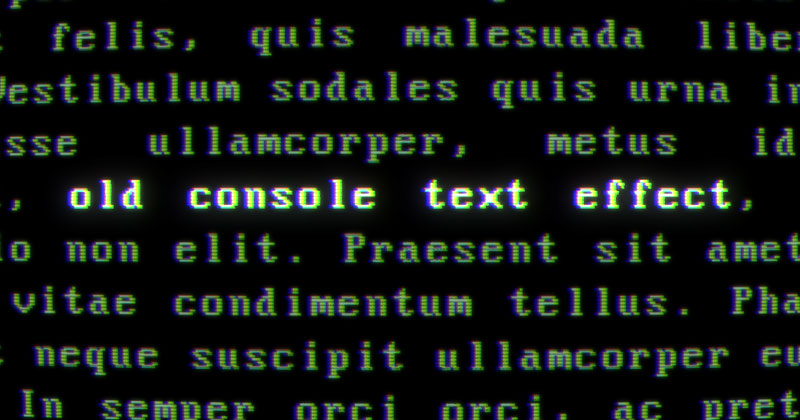 AfterEffects Old Console Text With Blinking Cursor
