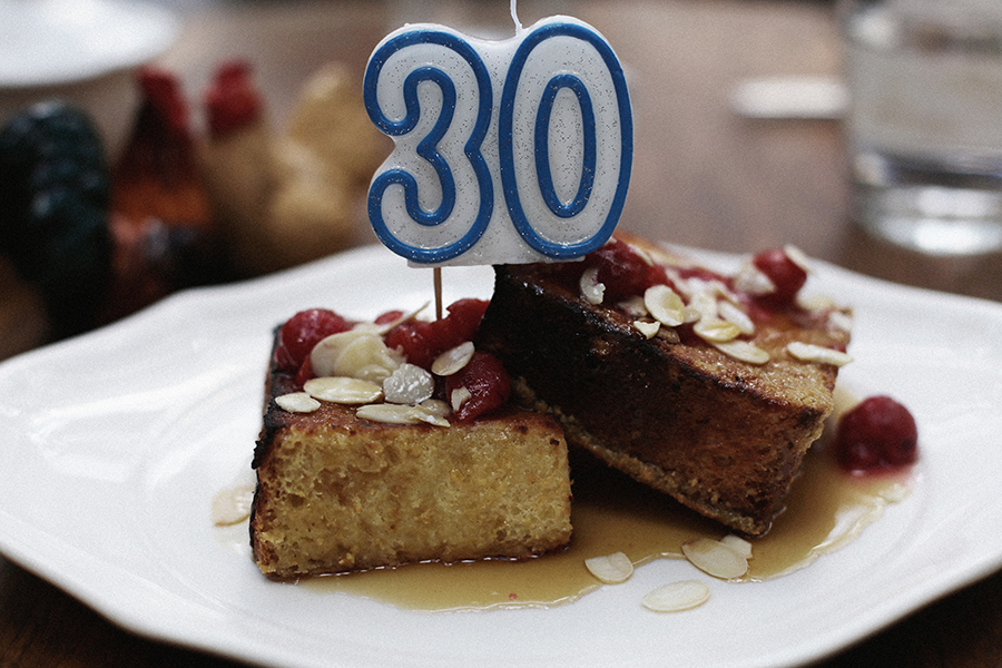 Celebrating my 30th birthday with brunch at The Standard Grill, New York