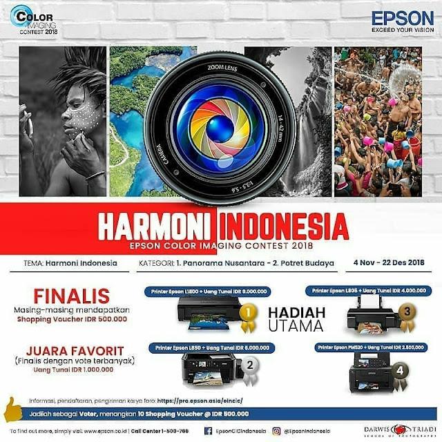 Lomba Foto Epson 2018 Umum Gratis