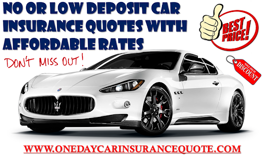 No Or Low Deposit Car Insurance For Young Drivers, Affordable Premium Rates Are Available