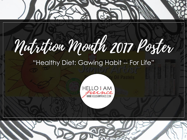 so as promised i made a sample poster for this year s nutrition month celebration this year s theme is healthy diet gawing habit for life