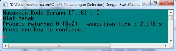 "Kondisi saat meng-input ""C"""
