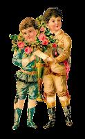 rose spring romantic children valentine victorian clipart image