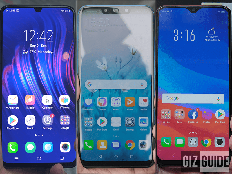 Vivo V11 vs Huawei Nova 3i vs OPPO F9 Specs Comparison