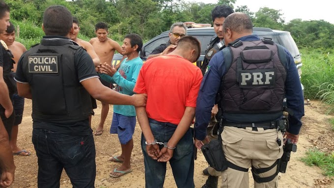 NA MIRA - Operação policial prende assaltantes e receptadores em reserva indígena no Maranhão