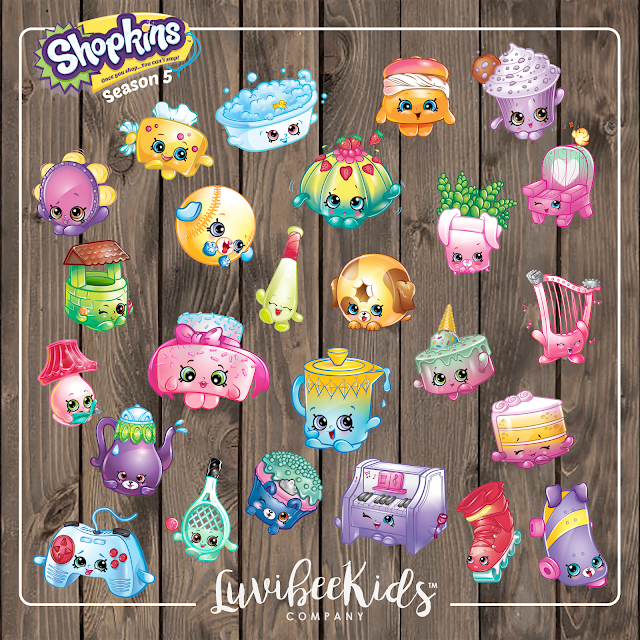 ... Kids Company: Shopkins Season 5 Clipart and Birthday Invitation - New